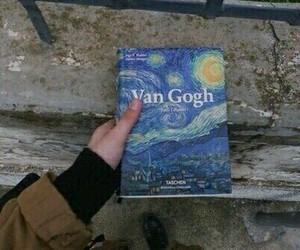 van gogh, art, and book image