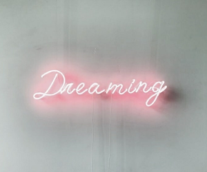 neon, dreaming, and pink image