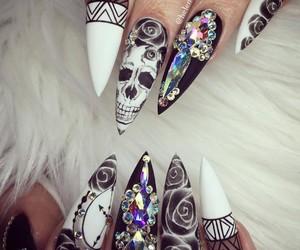 beauty, gems, and nail art image