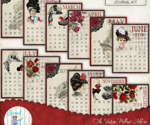 calendars, etsy, and junk journal image