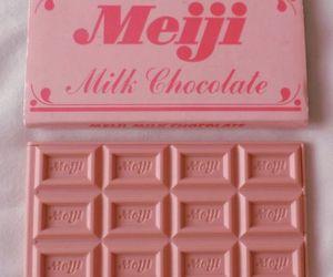 pink, chocolate, and girl image