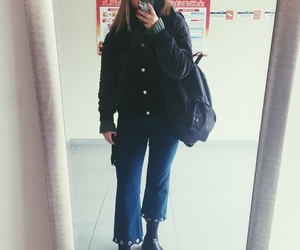 backpack, boots, and inspo image