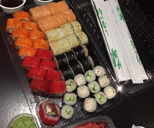 one love, seafood, and sushi image