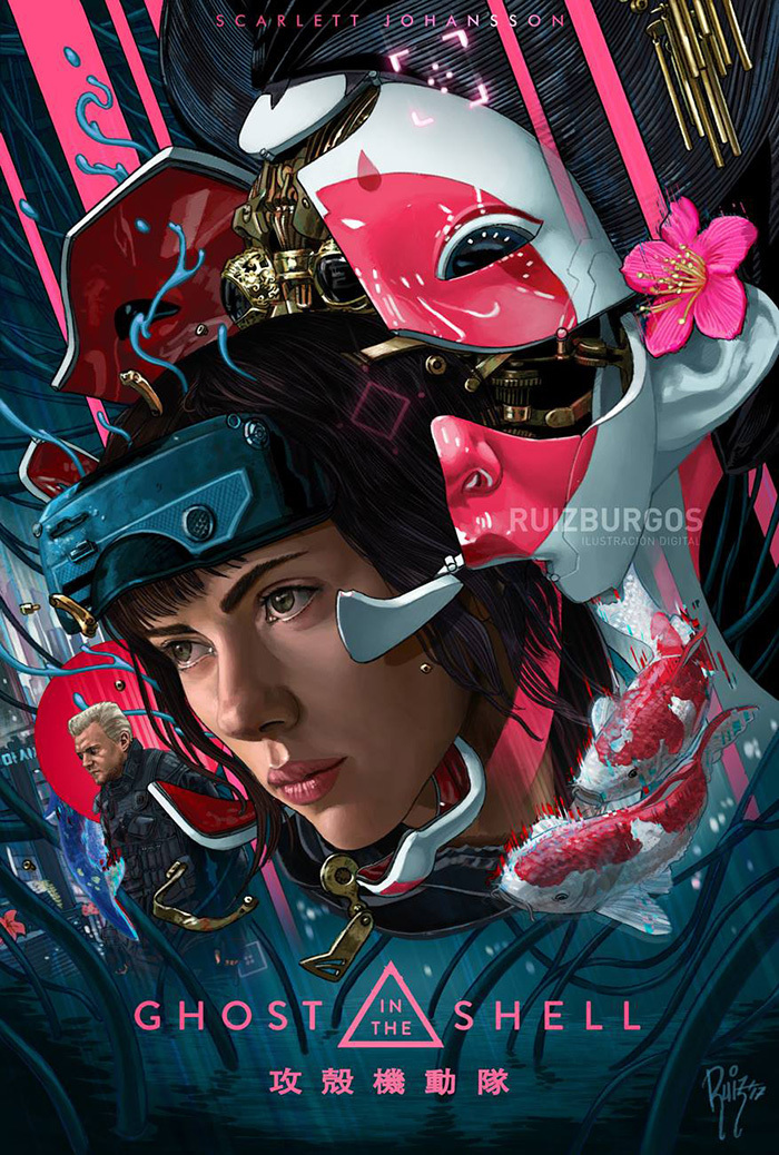 Ghost In The Shell By Ruiz Burgos Home Of The Alternative Movie Poster Amp