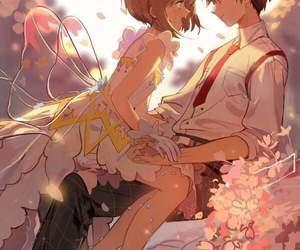 anime, love, and sakura image