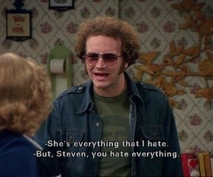 that 70s show, hyde, and hate image