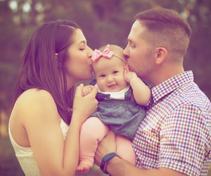 baby, family, and happy family image