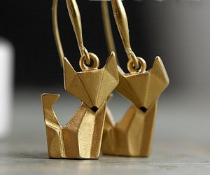 earrings, origami, and aretes image
