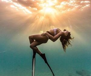 diving, ocean, and tumblr image