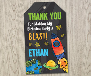etsy, space party, and personalized tag image