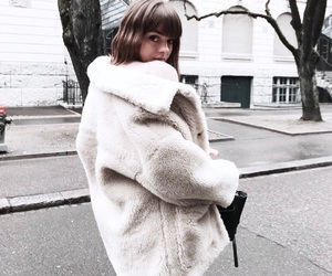 chic, coat, and fashion image
