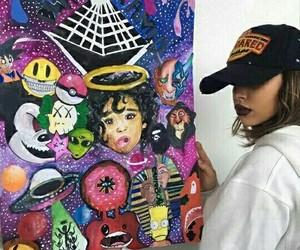 art, chris brown, and nisrina+ image