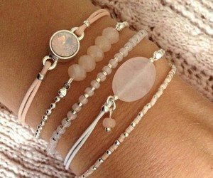 bracelets, pink, and woman image