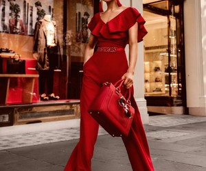 red, fashion, and fashionable image
