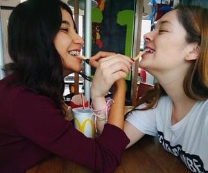 best friends, friendship, and mc donalds image