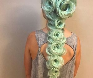 green hair, hairstyles, and hair color image
