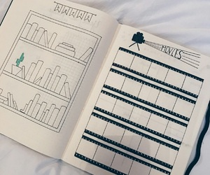 bullet journal, diary, and idea image