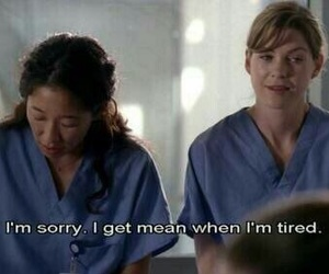 grey's anatomy, tired, and meredith grey image
