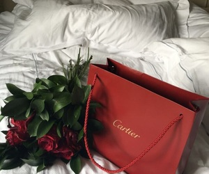 red, rose, and cartier image