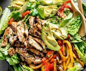 food, salad, and avocado image