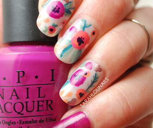 floral, heart, and nail image