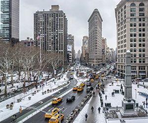 city, storm, and usa image