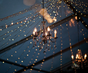 light, night, and chandelier image