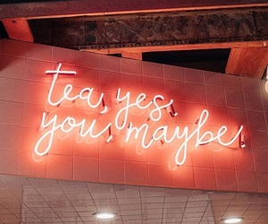neon, tea, and light image