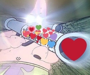 meme, patrick, and reaction image