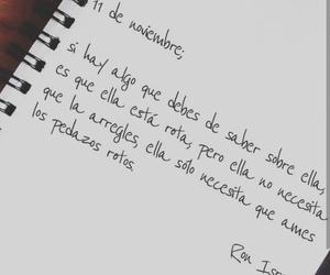 amor, escrito, and frase image