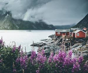 beauty, house, and mountains image