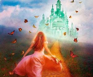 emerald city, yellow brick road, and dorthy wizard of oz image
