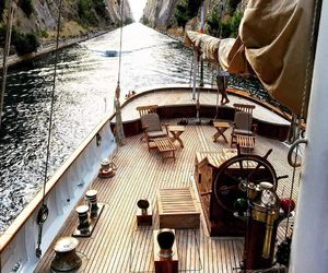 boat, travel, and nature image