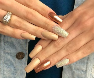 glitter, ring, and gold image