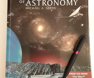astronomy, note, and book image