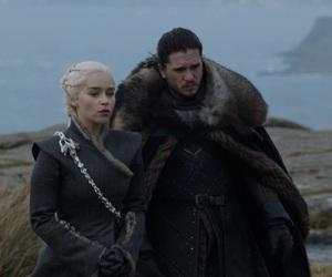 got, jon snow, and daenerys targaryen image