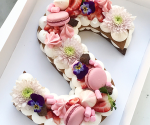 biscuit, cake, and decor image