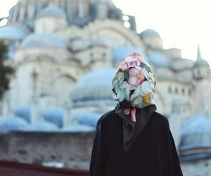 hijab, istanbul, and mosque image