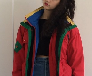 retro fashion, grunge clothes, and color block image