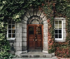 building, door, and green image