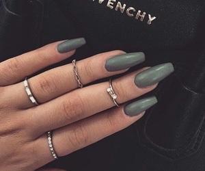nails, Givenchy, and green image