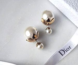 dior, earrings, and accessories image