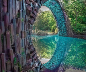 bridge, outdoors, and river image