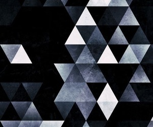 black, grey, and triangle image