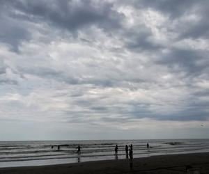 beach, photography, and clouds image