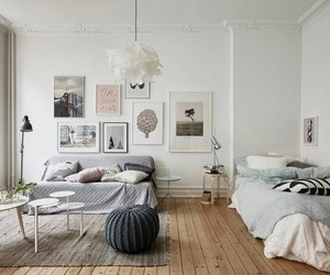 interior, bedroom, and decoration image