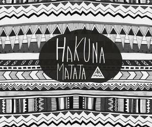 hakuna matata, background, and black and white image