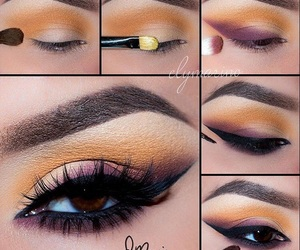beautiful, makeup, and eyes brown image