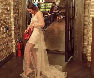 bag, dress, and white image