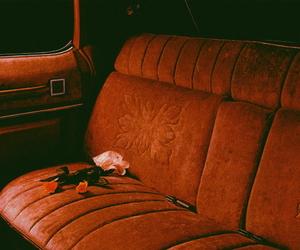 car, rose, and vintage image
